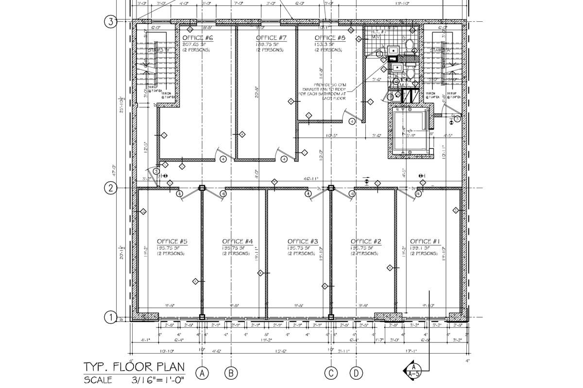 1650 eastern parkway tri state commercial realty for Typical office floor plan