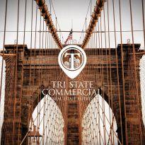 Logo on the background of Brooklyn Bridge